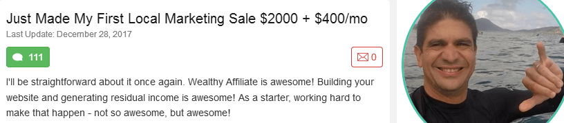 Wealthy Affiliate - Proof 4